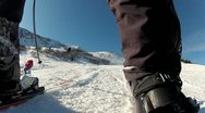 Skiing Downhill Carving Side 1 Stock Footage