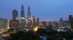 Kuala Lumpur, Petronas Towers, Asia, T/L Stock Footage