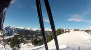 Skiing Downhill Panorame 3 Stock Footage
