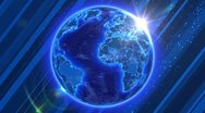 Spinning Earth. Global Business and Broadcast background. HD. Loop. Stock Footage