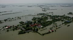 Thailand Flood aerials Oct 25 file 0053 not stab Stock Footage