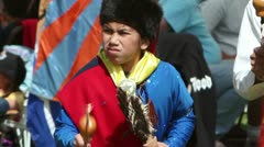 Pow Wow Gourd Dance Youth Stock Footage