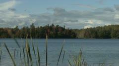 Fall lake Stock Footage