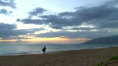 Maui Hawaii Beach and People Time Lapse Stock Footage