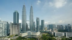 Malaysia, Kuala Lumpur, Petronas Towers,  Asia, T/L Stock Footage