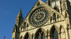 Rose Window of York Minster Stock Footage