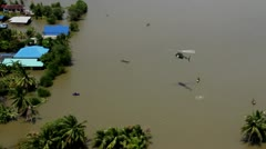 Thailand Flood aerials Oct 25 file 0067 Stock Footage