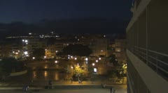 Tenerife, Beach El Medano at night, panshot  Stock Footage