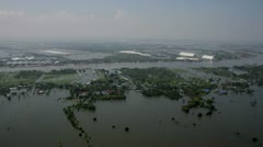 Thailand Flood aerials Oct 25 file 0072 stab Stock Footage