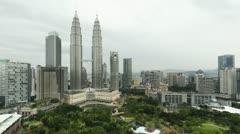 Petronas Towers, Malaysia, Kuala Lumpur, Asia, T/L Stock Footage