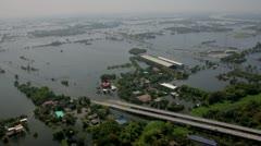 Thailand Flood aerials Oct 25 file 0079 Stock Footage