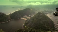 Pan de azucar aerial view Stock Footage