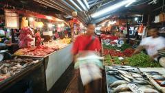Chow Kit market, Kuala Lumpur, Malaysia, T/L Stock Footage