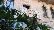 Juliet terrace, Verona Stock Footage