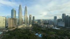Petronas Towers, Malaysia, Asia, T/L Stock Footage