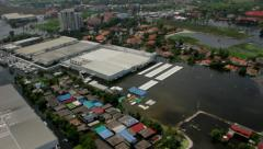 Thailand Flood aerials Oct 25 file 0089 Stock Footage