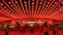Thean Hou Chinese Temple, Malaysia, T/L Stock Footage
