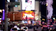 Stock Video Footage of Times Square Street in New York City
