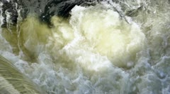 Force of water in small falls Stock Footage