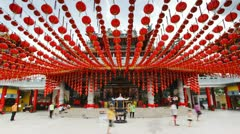 Thean Hou Chinese Temple, Kuala Lumpur, Malaysia, T/L Stock Footage