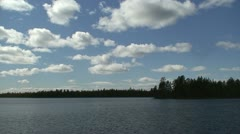 Bank of the lake in Finnish Lapland 4 - stock footage