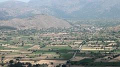 Greek landscape valley Stock Footage