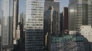 Stock Video Footage of Sunny NYC sky scraper timelapse with pull out HD