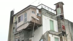 Kesennuma house destroyed Stock Footage
