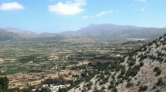 Stock Video Footage of Greek landscape wide shot
