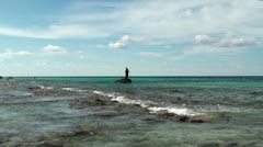 Fishermen at the sea Stock Footage