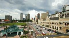 Merdaka Square Kuala Lumpur, Malaysia, T/L Stock Footage