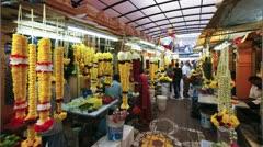 Flower market Kuala Lumpur, Malaysia, T/L Stock Footage