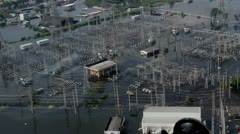 Thailand Flood aerials Oct 25 file 9962 2nd Stock Footage