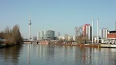 Berlin skyline Stock Footage