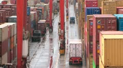 Container Yard Zoom Out 2 Stock Footage
