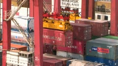 Container Yard Zoom Out Stock Footage
