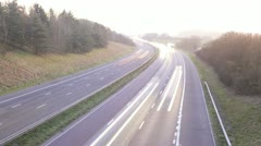 Traffic on busy motorway, Glos, UK, T/L Stock Footage