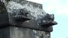 Lions on a tomb zoom out Stock Footage