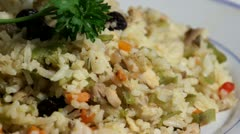 Fried Rice plate Stock Footage