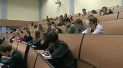 Students at a lecture in the classroom. Stock Footage