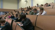 Stock Video Footage of Students at a lecture in the classroom.