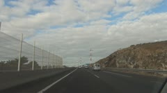 Tenerife, Highway from Airport Tenerife South to harbour Los Cristianos Stock Footage