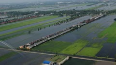 Thailand Flood aerials Oct 25 file 9979 Stock Footage