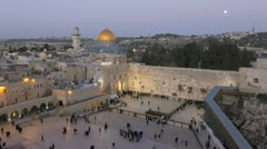 Rock Temple Mount, Jerusalem, Israel, T/L Stock Footage