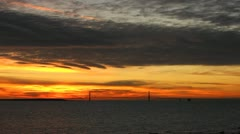 Mackinac Bridge timelapse at Sunset Stock Footage