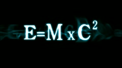 Einstein's Formula E=mc2 Stock Footage