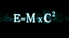 Stock Video Footage of Einstein's Formula E=mc2
