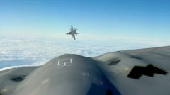 B-2 Bomber and  Fighter Jet - stock footage