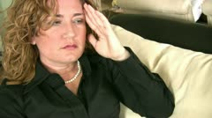 Woman  has Migraine - stock footage