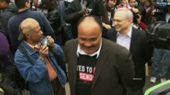 Martin Luther King III arrested at Sudan protest Stock Footage